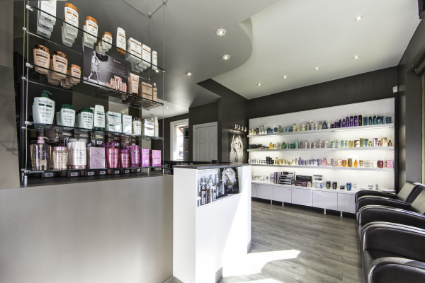 Hair Salon London Showing Front With Product