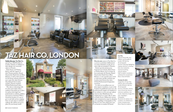 Taz London Featured in Canadian Hairdresser Magazine